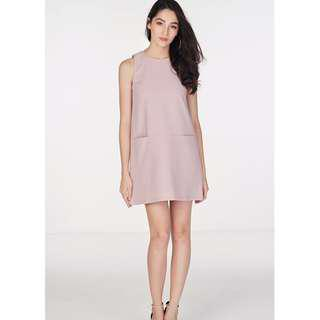 TCL Paulyna Pocket Shift Dress, Dusty Pink
