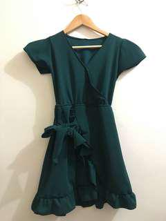 BN Emerald Green Wrap Dress