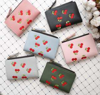 PROMO! CHERRY EMBROIDERED WALLET!