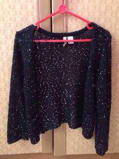 H&M Glittery Knit Outer