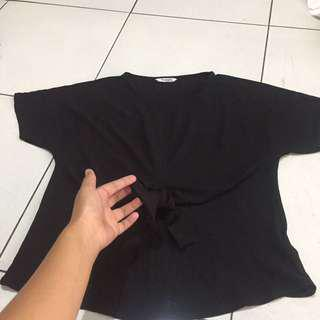 black ribbon top