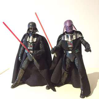 "Star Wars Darth Vader 6"" Black Series set of 2"