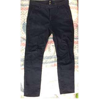 H&M SLIM FIT DARK BLUE PANTS