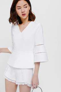 Love Bonito Syaba eyelet top