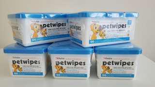 寵物用清潔濕紙巾 Petwipes  x 5 盒