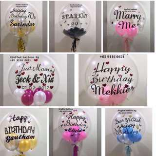 Customized balloon, clear bubble balloon