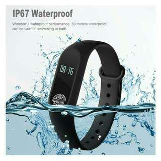 Smartband m2 with sensor jantung TERMURAH / smartwatch m2 termurah bluetooth