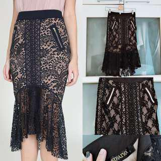 SALE 🙀MDS COLLECTIONS ( supplier) lace mermaid fishtail skirt in - black