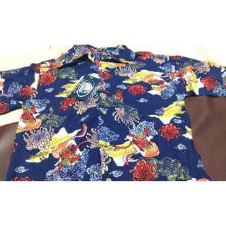 Vintage Safari Surf Devil Allover Japanese Design Shirt