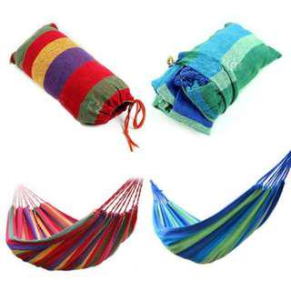 HAMMOCK /BUAIAN FOR OUTDOOR CAMPING OR PICNIC ( PORTABLE )