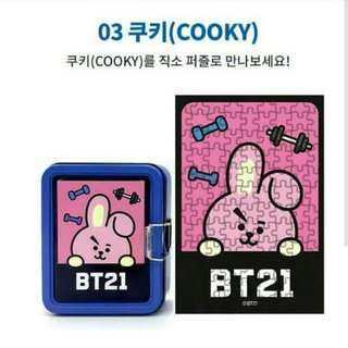 (Ready Stock) BT21 Tin Case Puzzle-Cooky