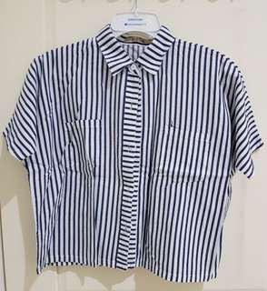 Preloved | Oversized Stripe Shirt - Miroir (Local Brand)