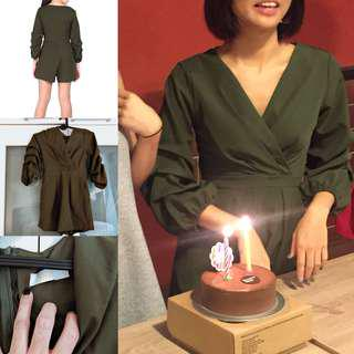 Sale 🛍 my fine collective ( same supplier ) green playsuit