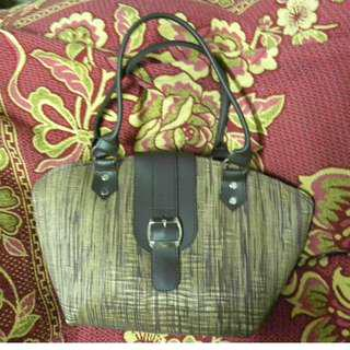 Brown native shoulder bag