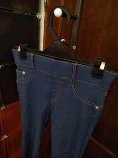 藍色彈性褲