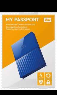WD MyPassport 2TB Blue