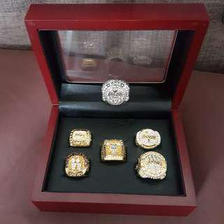 Kobe Bryant Championship Rings with Display Box