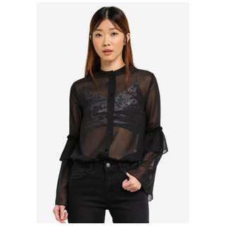 Something Borrowed Soft Layered Sleeve Shirt