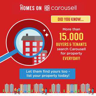 1) 15,000 buyer/tenants search homes on Carousell everyday