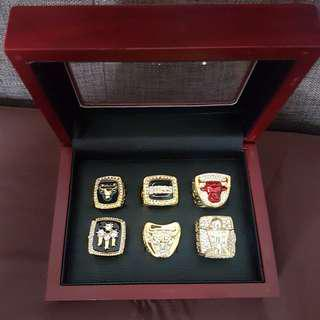 Michael Jordan NBA Championship Rings with Display Box