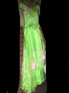 Apple green gown