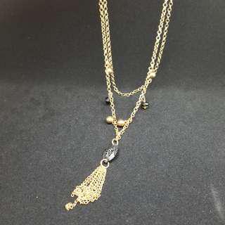長短兩用鏈 金色毛衣鏈 woman's necklace