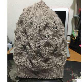 自家製作。人手編織。。羊毛冷帽 #1