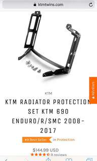 KTM radiator protection set , SMC/enduro.