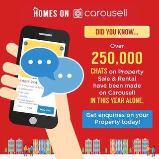 3) Over 250,000 Chats on Property Sale & Rental have been made on Carousell this year alone