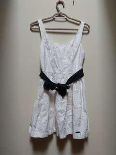 A&F White Dress with Bow