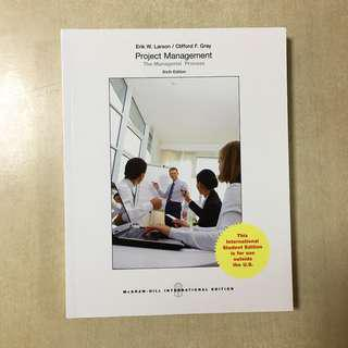 Project Management The Managerial Processs ^th Edition (like new)