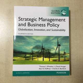 Strategic Management and Business Policy 14th Edition (like new)