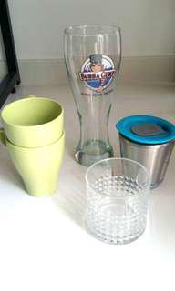 Divers glasses and cups to bless, give away