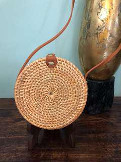 Handwoven Artisan Rattan Handbag