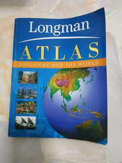 🚚 Longman Atlas Singapore and the World Map Book