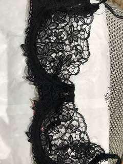 Black lace Honey Birdette Bra 10D
