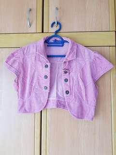 Jeans Cardigan-pink