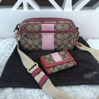 Coach sling bag + wallet