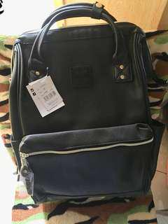 SALE!! Reprice!! Original ANELLO bagpack! from Japan. Color black leather