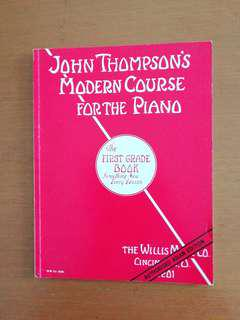 Lightly Used. John Thompson's Modern Course For The Piano. The first grade book something new every lesson. Authorised Asian Edition. Music book