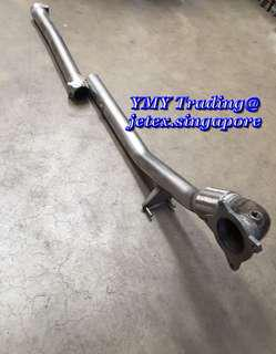 #jetexexhausts_vw. #jetexexhaustsasialink..            3 inch (76mm) downpipe catless with connecting pipe for 2.0cc model (Tracking purposes) and options(seperate purchase) of micro sensor adaptor available  for CEL issue