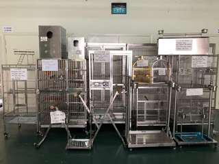 Stainless steel parrot and bird cages