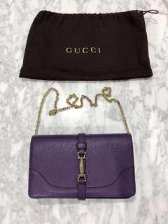 AUTH 2012 Limited Edition Gucci Amethyst Wallet on Chain Shoulder bag