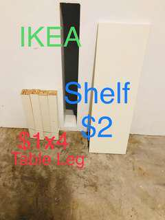No Defect Spare IKEA Table Leg & Table Top or White shelf