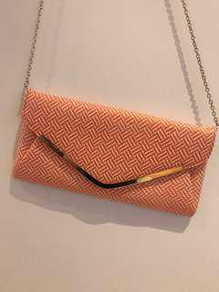 COLETTE Orange Woven Handbag/Clutch