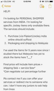 Personal Shopper from INDIA