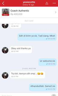 Testimoni from lovely customer ❤️❤️