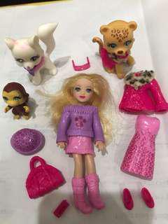 Polly Pocket Doll Complete Set