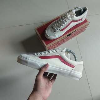 (US7.5) Vans Style 36 G-Dragon Marshmallow/Racing Red