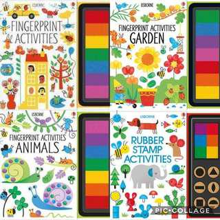 finger-printing / stamp activities book